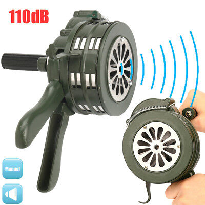 110db Loud Hand Crank Manual Operated Air Raid Alarm Handheld Aluminium Alloy US