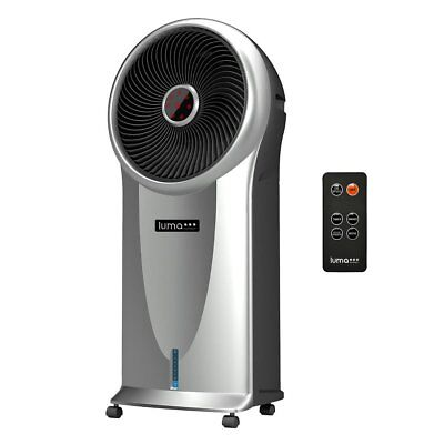 Luma 250 Sq Ft 3 Speed Portable Comfort Evaporative Cooler with Remote, Silver