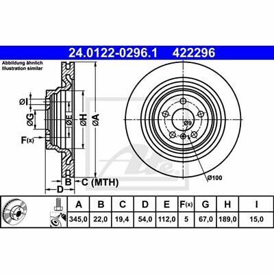 Bremsscheibe ATE 24.0122-0296.1