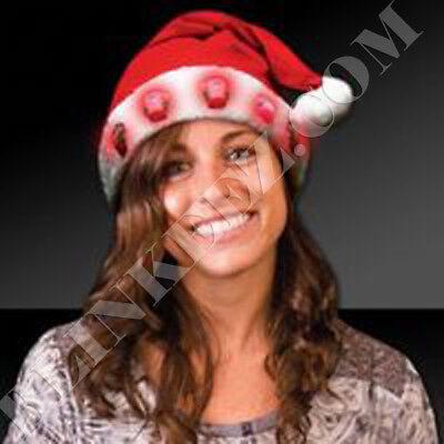 Flashing Santa Hats (FLASHING CHRISTMAS SANTA HAT WITH LIGHT UP)