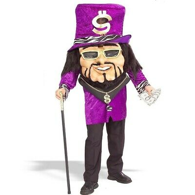BIG DOLLAR DADDY PARADE MARDI GRAS HALLOWEEN COSTUME fits up to Chest size 42 - Big Size Mens Halloween Costumes