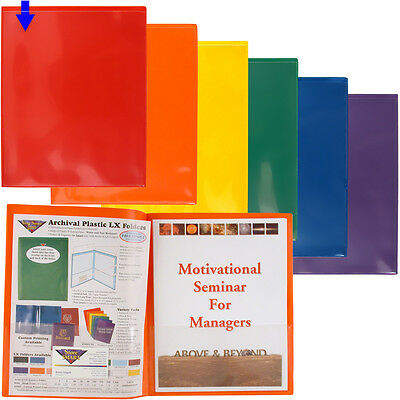 Storesmart Plastic Archival Folders Primary Colors 6pk 6 Bright Colors R900pcp6