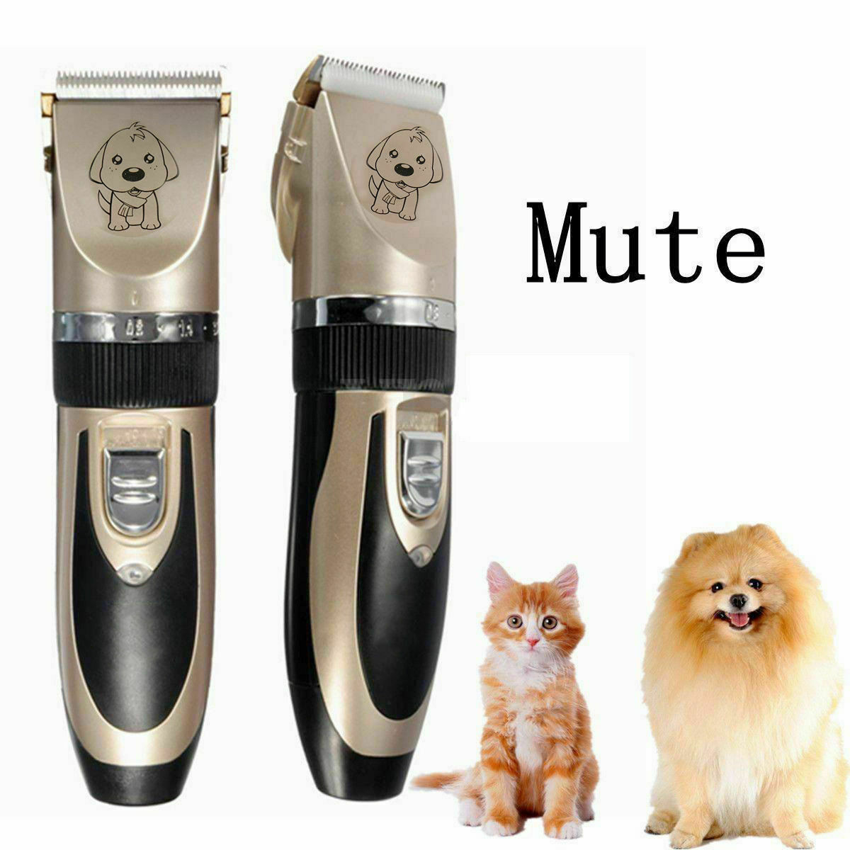 NEW Electric Animal Pet Dog Cat Hair Trimmer Shaver Razor Grooming Quiet Clipper Dog Supplies