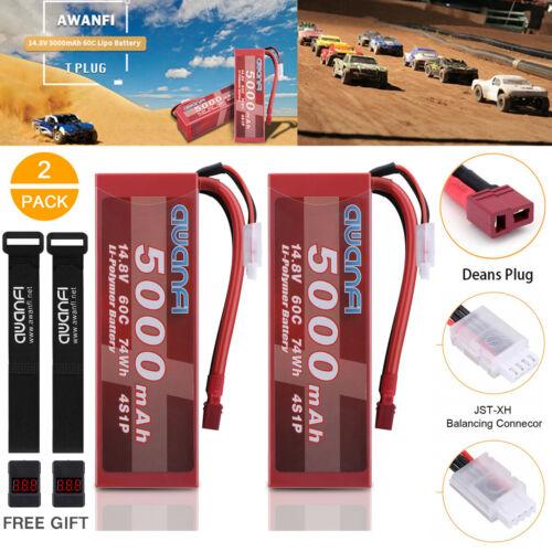 2x 5000mah 14 8v 4s lipo battery