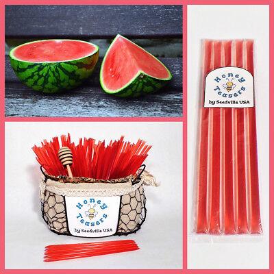 Honeystix Straws - 5 Pack WATERMELON HONEY TEASERS Natural Honey Snack Sticks Honeystix Straws