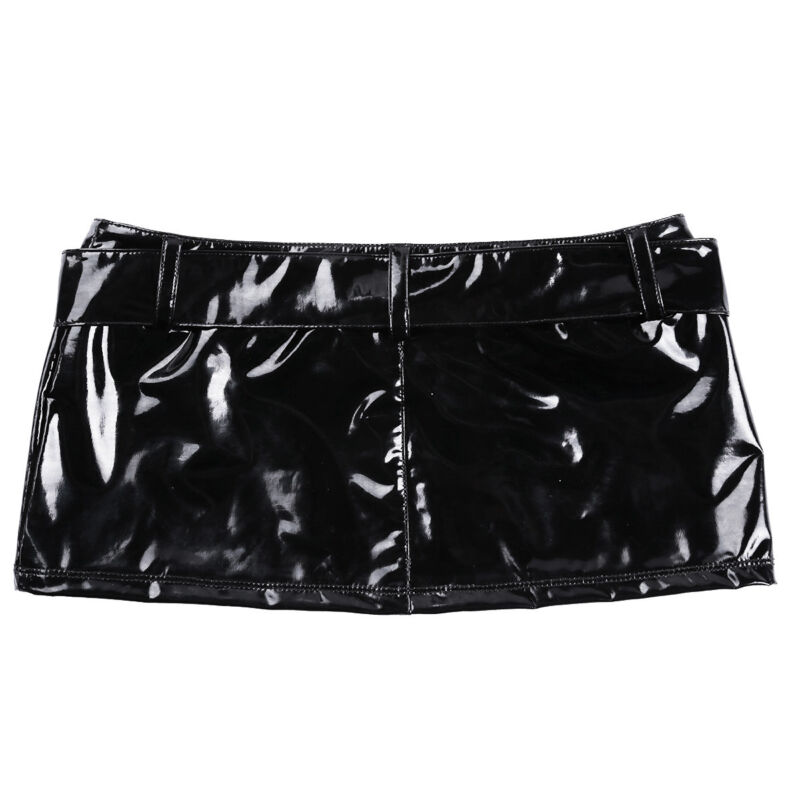 a4108a22f Set Include: 1Pc Mini Skirt Condition: New with tag. Material: Patent  Leather Color: Black(as pictures show)