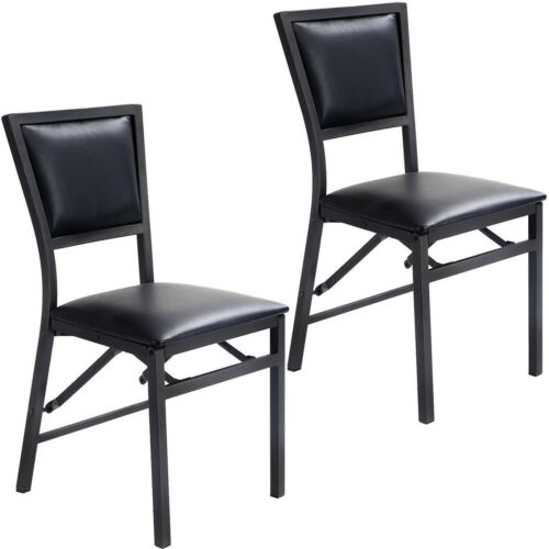 Folding Dining Chairs Padded.Details About 2x Folding Foldable Dining Chair Padded Seat Stool Kitchen Dining Room Furniture