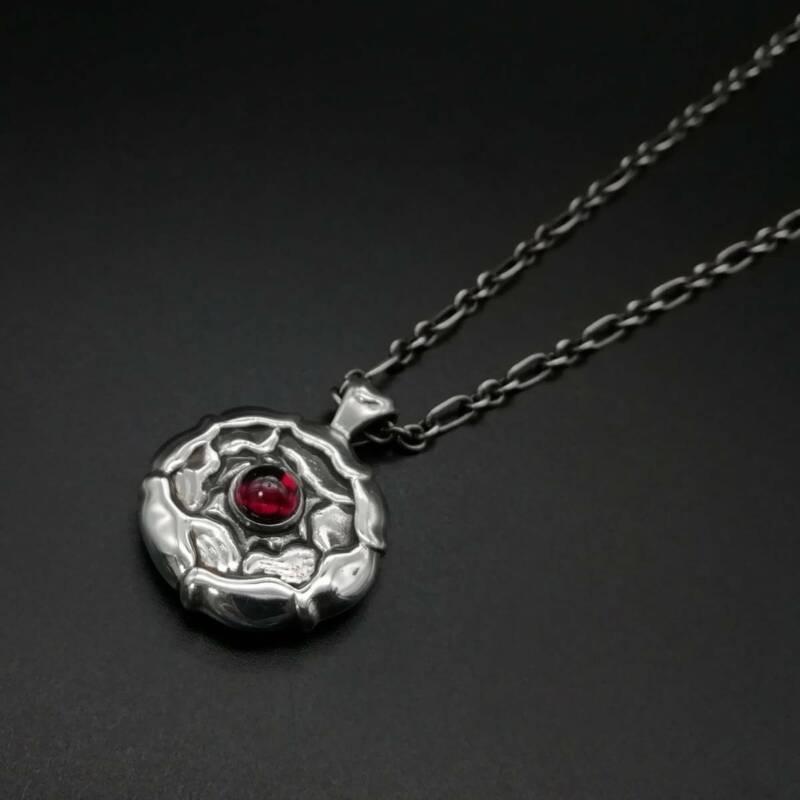 Georg Jensen Necklace Pendant Sterling Silver Denmark Jewelry #13651