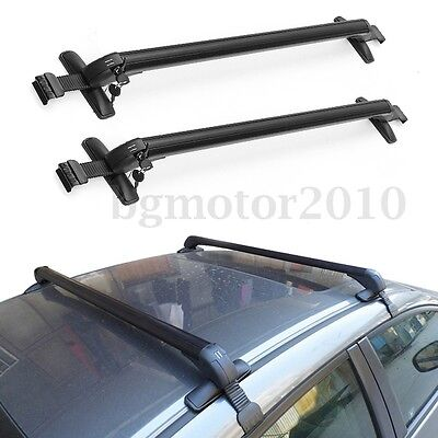 Aluminum Car Top Paraphernalia Roof Rack Cross Bar Carrier Adjustable Window Frame US