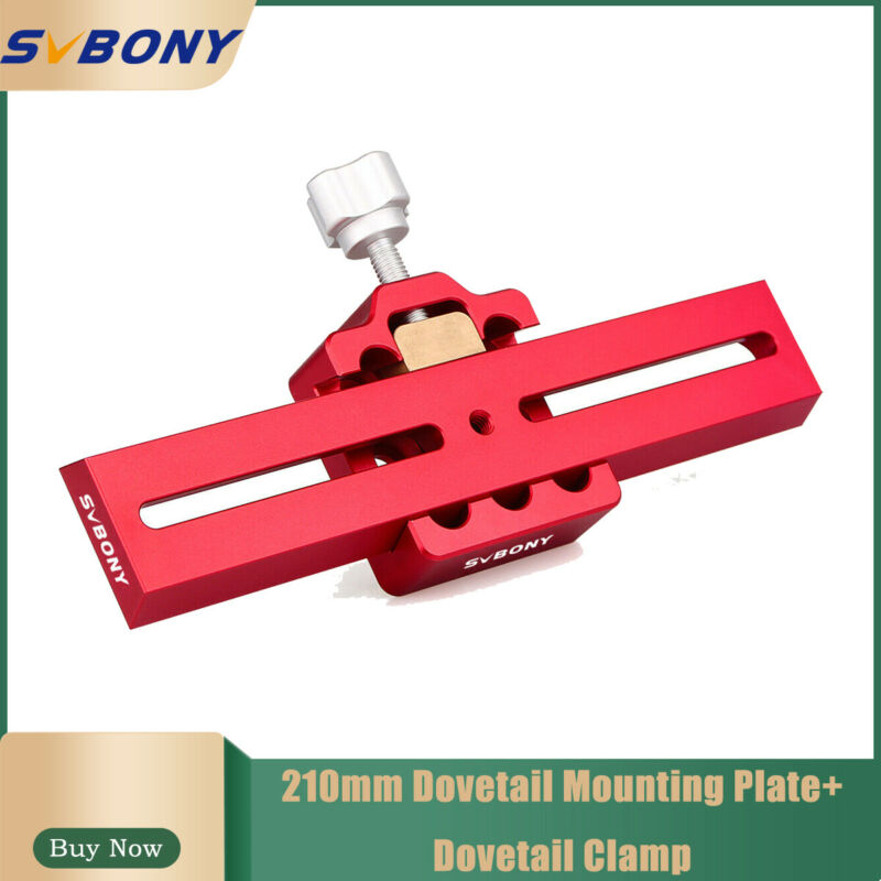 210mm red Telescope Dovetail Clamp+Dovetail Mounting Plate for Astro Photography