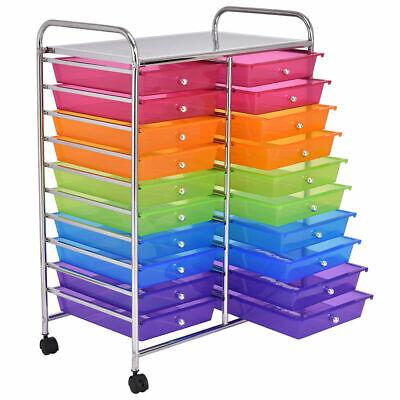 20 Drawers Rolling Cart Storage Scrapbook Paper Studio Organizer Mutli - Scrapbook Paper Storage
