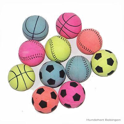 Moosgummiball - Moosgummibälle - Hundespielzeug - 6 cm (Gummi-bälle)