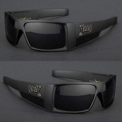 Og Locs Large Men Glasses Flat Top Super Dark Black Sunglasses Gangster (Sunglasses Flat Top)