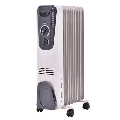 1500W Electric Oil Filled Radiator Space Heater 3 Heat Setti