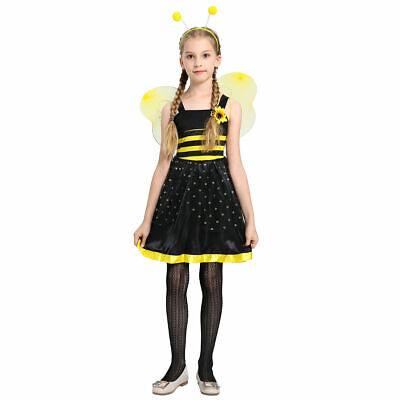 Halloween Costumes Bumble Bees (Girls Honey Bumble Bee Dress Cute Adorable Pretty Custome School Play)