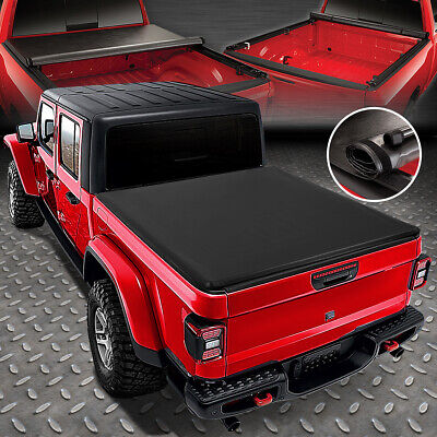 FOR 2020 JEEP GLADIATOR JT PICKUP TRUCK BED SOFT LOCK & ROLL-UP TONNEAU COVER Jeep Gladiator Truck