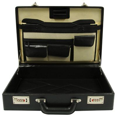 ROADPRO HH-003PM/BK HH-003PM BK FAUX LEATHER BRIEFCASE BLACK