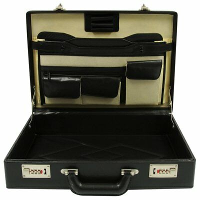 ROADPRO HH-003PM/BK Faux Leather Briefcase Black