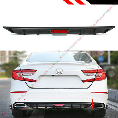 FOR 2018 2019 HONDA ACCORD 10TH GEN SPORT JDM BLK REAR BUMPER DIFFUSER VALANCE