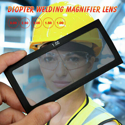 Diopter Welding Magnifier Lens Cheater Lens Welder Screen Helmet Glass 1.0-3.0
