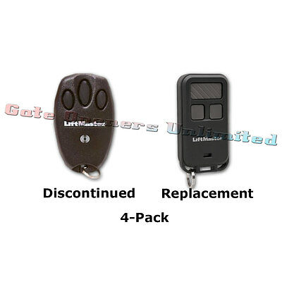 Liftmaster 970LM 4-Pack Security+ 3-Button Remote Replaced by 890MAX 3-Button