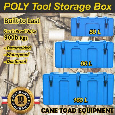 Poly Tool Box Storage Case Heavy Duty Waterproof Cargo Box Plastic Tool Box Trad ()