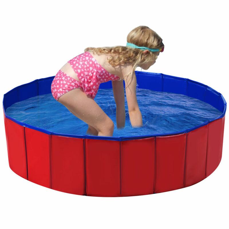 "48"" Foldable Kiddie Pool Kids Bath Tub Ball Pit Playpen Indoor Outdoor Portable"