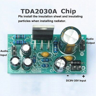 TDA2030A Audio Power Amplifier Board Module Mono 18W DC9-24V DIY Kits Components