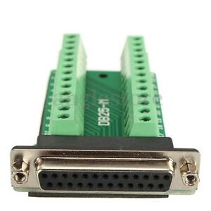 DB25 25-pin Female Connector RS-232 Serial Port Interface Breakout Board Adapter