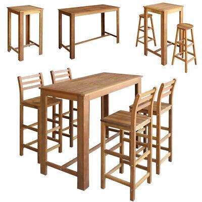 Bartisch Stuhl Set Stühle Sitzgruppe 5/7-tlg. Gartentisch / Stühlen / Stehtisch