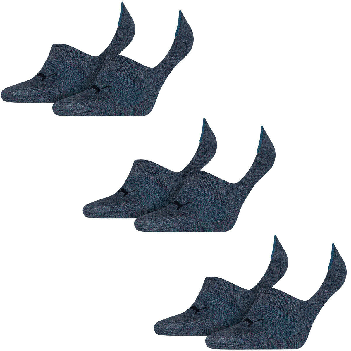 6 Paar Puma Socken Footie Sportsocken Invisible Gr. 35 – 46 Unisex