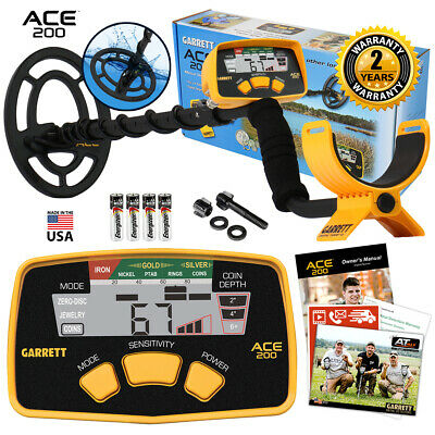 Garrett ACE 200 Metal Detector with 6.5