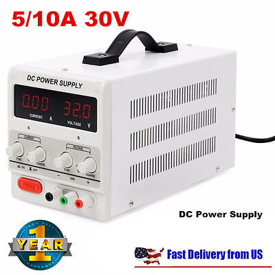 Digital Dc Power Supply 30v 10a 5a Precision Variable Adjustable Lab Grade Nbe