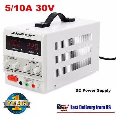Digital Dc Power Supply 30v 10a 5a Precision Variable Adjustable Lab Grade New