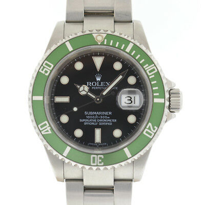 Rolex 16610LV Kermit 50th Anniversary Submariner Automatic Watch w/ Box & Papers
