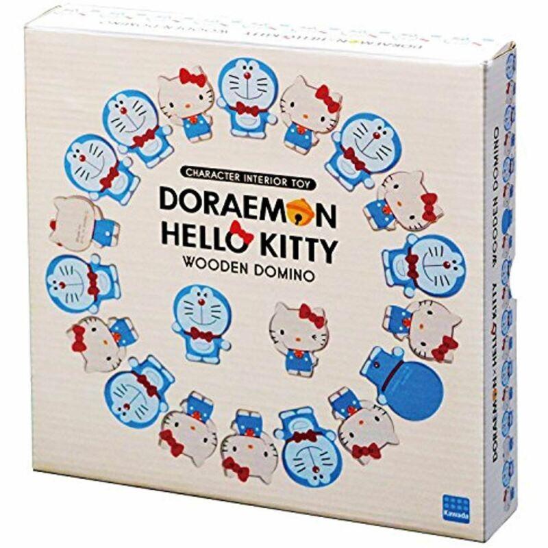 Doraemon and Hello Kitty Domino DW-002 Sanrio Cute Domino Collaboration Product