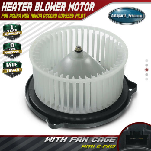 A/C Heater Blower Motor With Fan Cage For Acura MDX Honda