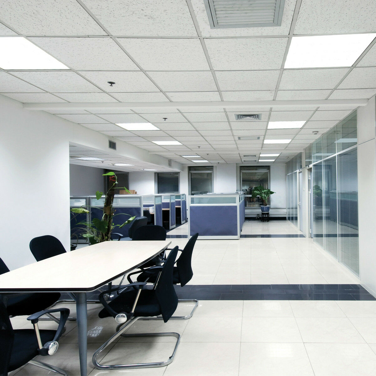 Office Ceiling Lighting: 40W Ceiling Suspended Recessed LED Panel White Light