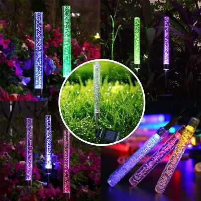 2 PCS  Solar Powered Color Changing LED Stake Light Garden Path Yard Decor - Powered Stake