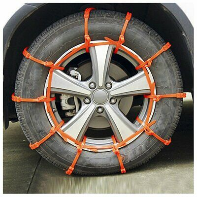 10pc Snow Tire Chain for Car Truck SUV Anti-Skid Winter Emergency Muddy Driving