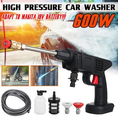 600W 435PSI Washing Machine Cordless High Pressure Car Washer Gun Water Pump