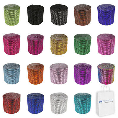 10 Yards Diamond Rhinestone Ribbon Mesh Wrap Wedding Party Floral Decorations](Wedding Decore)