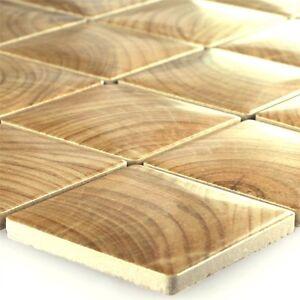 keramik holz optik wood mosaik fliesen ebay. Black Bedroom Furniture Sets. Home Design Ideas