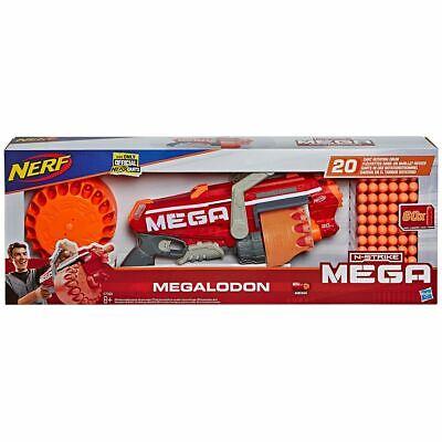 Nerf Megalodon N-Strike Blaster with 60 Mega Whistler Darts