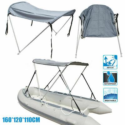Bootssonnensegel Klappbar Bimini Blau Sonnendach Boot-Sonnenverdeck Sonnenschutz