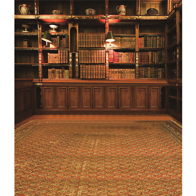 - Retro Study Library Books Shelf Photography Photo Background Backdrop Prop 3X5FT