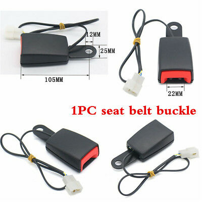 Camlock Car Auto Front Seat Belt Buckle Socket Plug Connector With Warning Cable