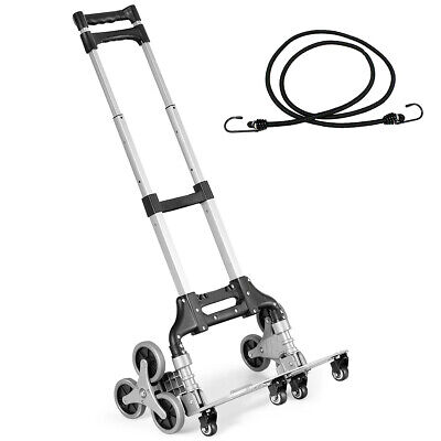 Folding Stair Climbing Cart Portable Hand Truck Utility Dolly W Bungee Cord