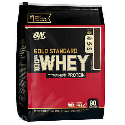 Optimum Nutrition Gold Standard 100  Whey Protein 90 Servings 6Lbs Free Shipping