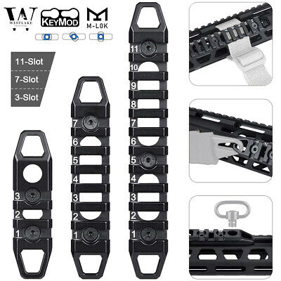 Hollow M-LOK / KeyMod Rail Section 3 7 11 Slot Picatinny Accessory Rail Sections